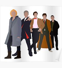 13th Doctor - Five Modern Doctors - Doctor Who Poster