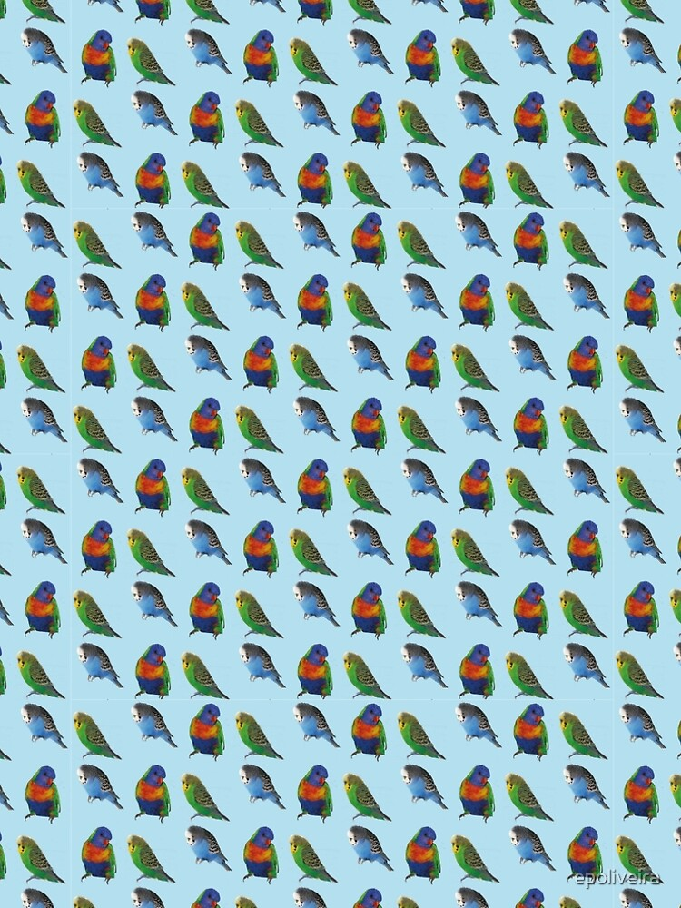 Blue bird budgie parrot pattern by epoliveira