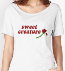 Sweet Creature Rose Design Women's Relaxed Fit T-Shirt