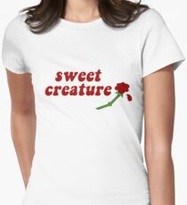 Sweet Creature Rose Design Women's Fitted T-Shirt