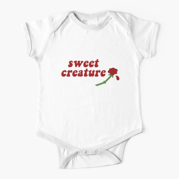 Sweet Creature Rose Design Short Sleeve Baby One-Piece