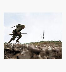 Sniper running through the Death Valley Photographic Print