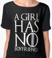 A girl has no boyfriend Chiffon Top