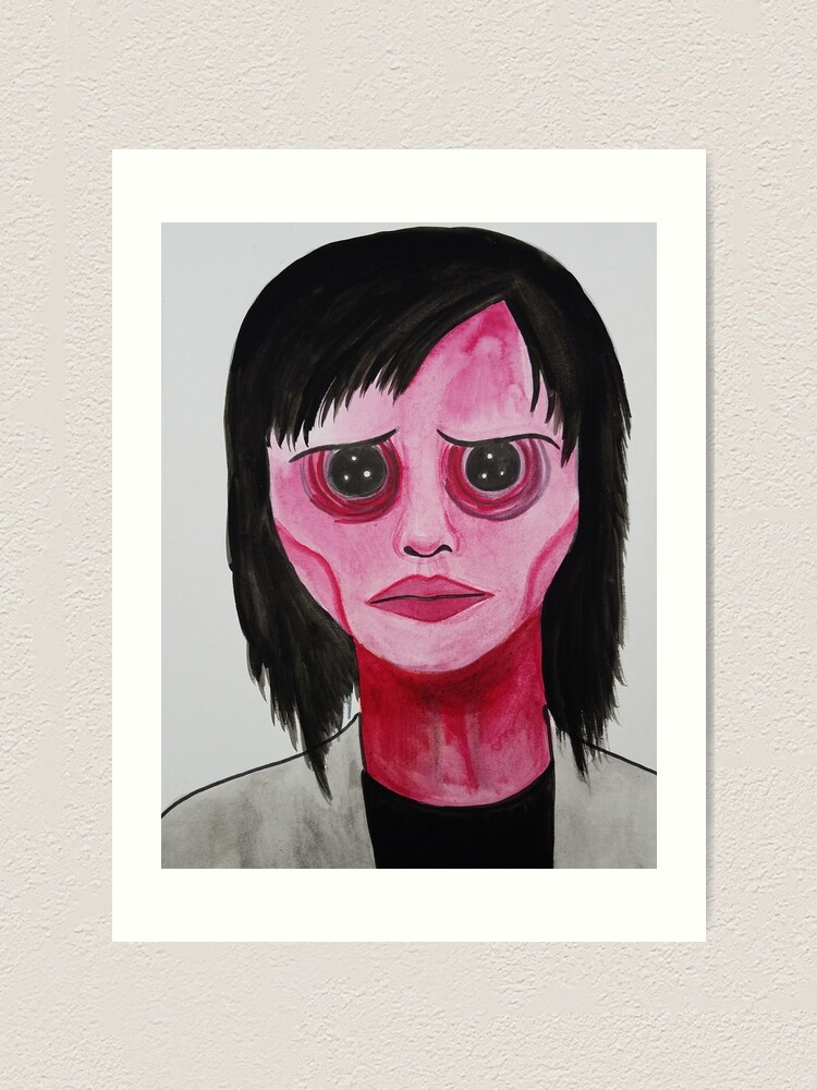 Coraline Girl With Button Eyes Art Print By Artbymeganbrock Redbubble