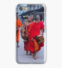 Monks in Laos iPhone Case/Skin