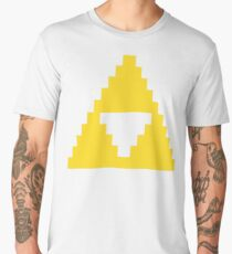 Zelda Triforce Gold 8-bit Men's Premium T-Shirt