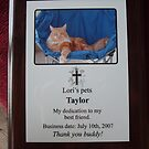 Taylor's plaque&mine of course too:) by Lori Durocher