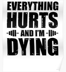 Everything Hurts And I'm Dying Poster