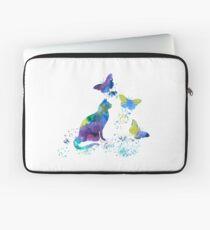Watercolor Cat Art Laptop Sleeve