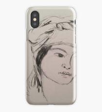 Girl in turban iPhone Case/Skin