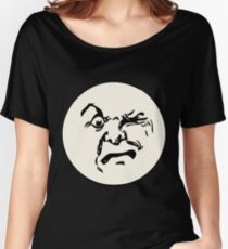 THE MAN ON THE MOON IS AN ANGRY MOFO Women's Relaxed Fit T-Shirt