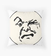 THE MAN ON THE MOON IS AN ANGRY MOFO Throw Pillow