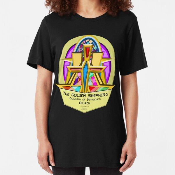 THE GOLDEN SHEPHERD - Children of Bethlehem Church  Slim Fit T-Shirt