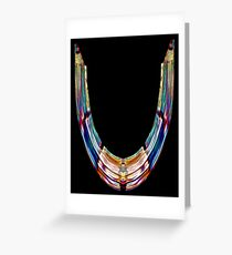 """ALPHABET - Stained Glass Letter """"U"""" Greeting Card"""
