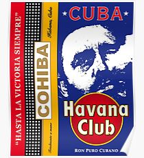Cuba Castro Rhum and Cohiba Print Posters Decoration Poster