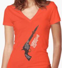 The Gunslinger Followed Women's Fitted V-Neck T-Shirt