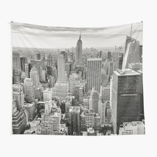 new york city skyline tapestry Tapestry