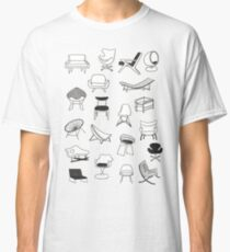 Mid Century Modern Chair Collection Classic T-Shirt