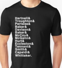 The Doctor (Hartnell - Whittaker) T-Shirt