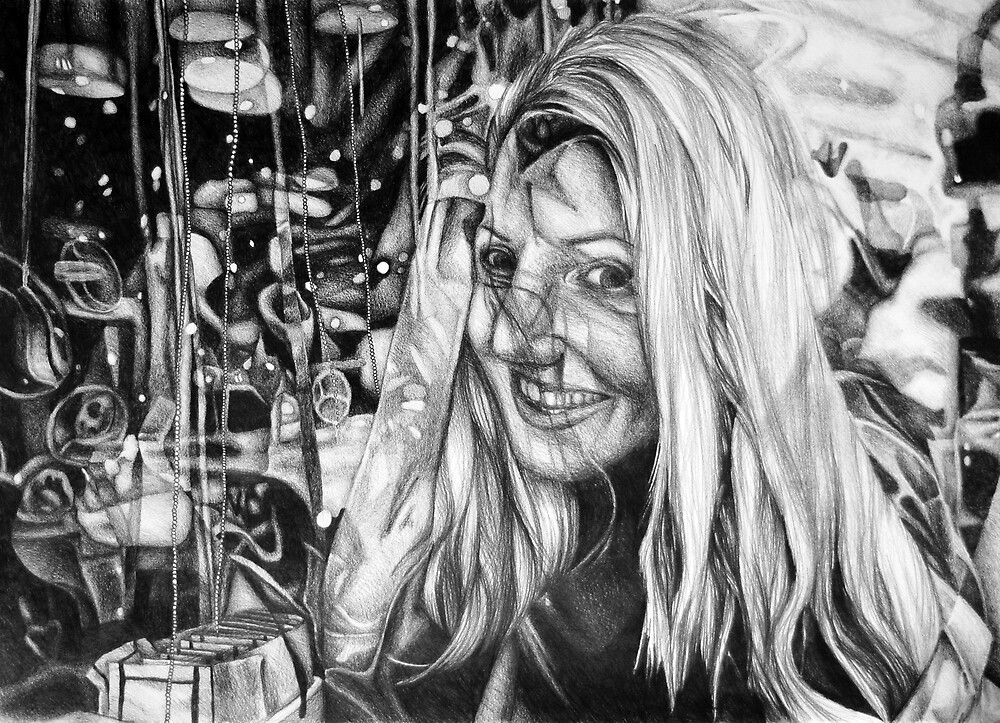 The Depth Of Self-delusion, 2016, 50-70cm, graphite crayon on paper by oanaunciuleanu
