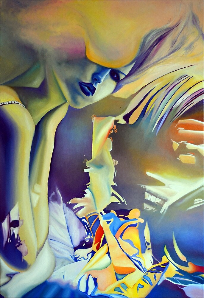 Silver Bride, 120-80cm, 2016, oil on canvas by oanaunciuleanu