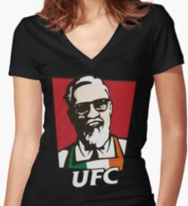 UFC MCGREGOR Women's Fitted V-Neck T-Shirt