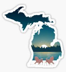 Up North Sunset Mitten Sticker