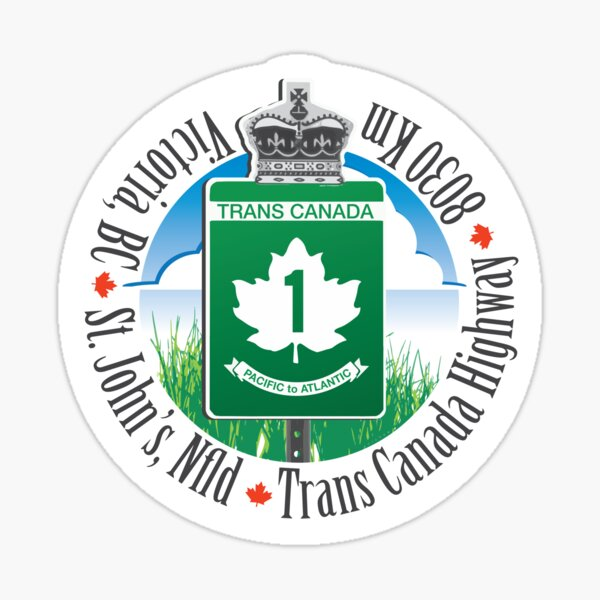 Trans Canada Highway Sticker