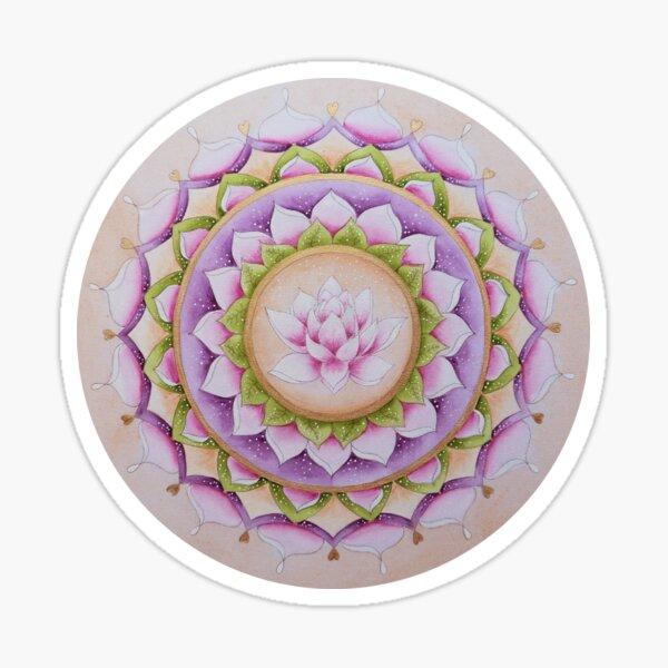 Mandala Lotus round Sticker
