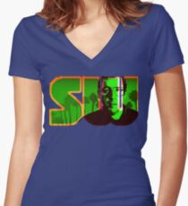SW - Série, Series, Serial Women's Fitted V-Neck T-Shirt