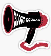 Boozy Cougar Megaphone Sticker