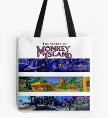 The secret of Monkey Island Backgrounds Tote Bag