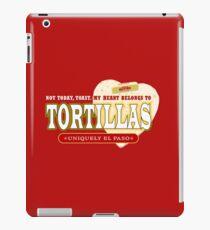 Eine heiße Mehl-Tortilla - frisch weg vom Comal iPad-Hülle & Klebefolie