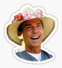Nick Saban, flower crown Sticker