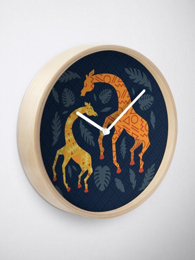 Vista alternativa de Reloj Bailando jirafas con patrones