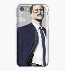 GOTHAM Gordon Keep Calm and Wear Glassess iPhone Case/Skin