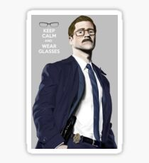 GOTHAM Gordon Keep Calm and Wear Glassess Sticker