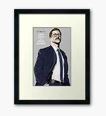GOTHAM Gordon Keep Calm and Wear Glassess Framed Print