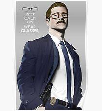 GOTHAM Gordon Keep Calm and Wear Glassess Poster