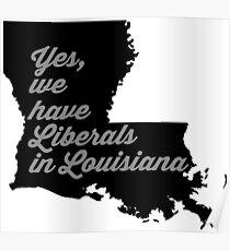 Liberal Louisiana - black and gray Poster