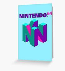 N64 Aesthetic Greeting Card