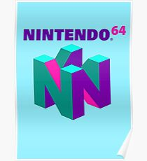 N64 Aesthetic Poster