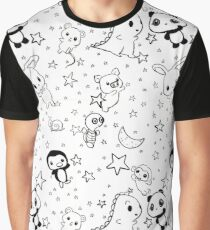 Dino & Panda Inc Pattern #1 Graphic T-Shirt