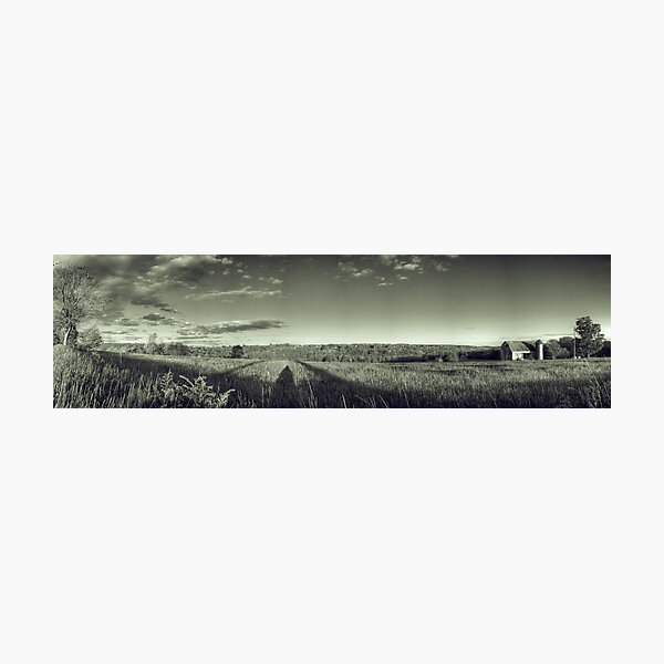Hayfield + Barn No. 4 Photographic Print