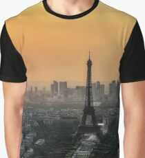Paris Skyline In The Morning Graphic T-Shirt