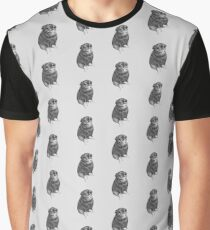 Sweet Black Pug Graphic T-Shirt