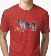 Dachshund art Tri-blend T-Shirt