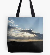 Perfect Sun Rays in my Brother's Backyard! Tote Bag