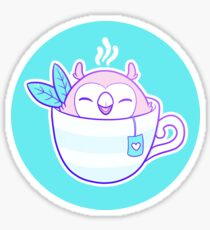 Owl Tea Sticker