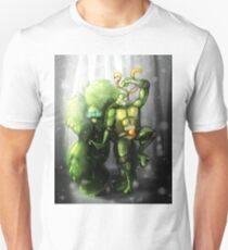 Mikey and the Monster - TMNT Digitally Colored Pencil Drawing Unisex T-Shirt